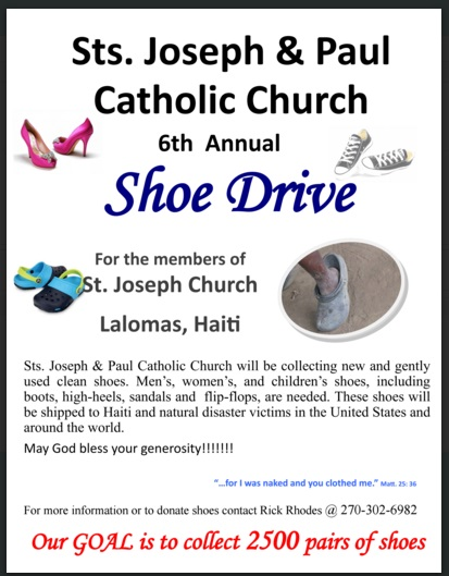 Shoe Drive for Haiti flyer